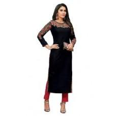 Black beautiful neckline kurtha