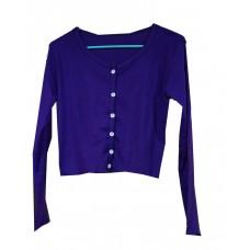 Bottom crop purple t-shirts