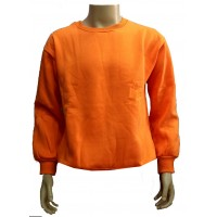 Orange cotton sweater