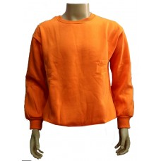 Orange cotton sweater