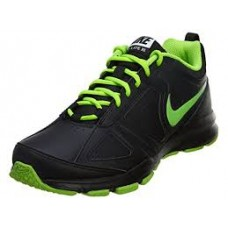 Green and black nike shoes