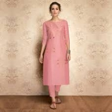 Pink  Kurtha full neck